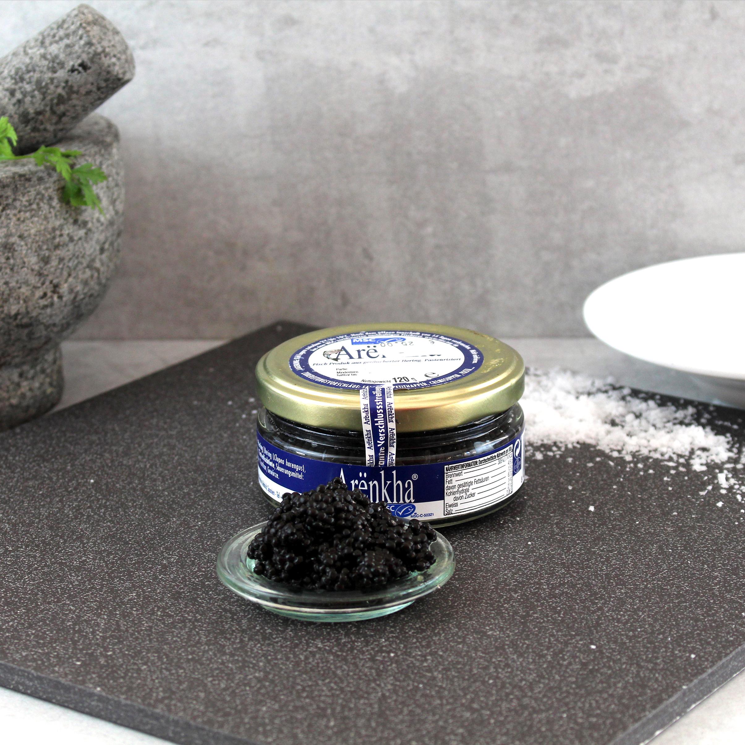 "Arënkha ""Kaviar"" aus geräuchertem Heringsfilet"