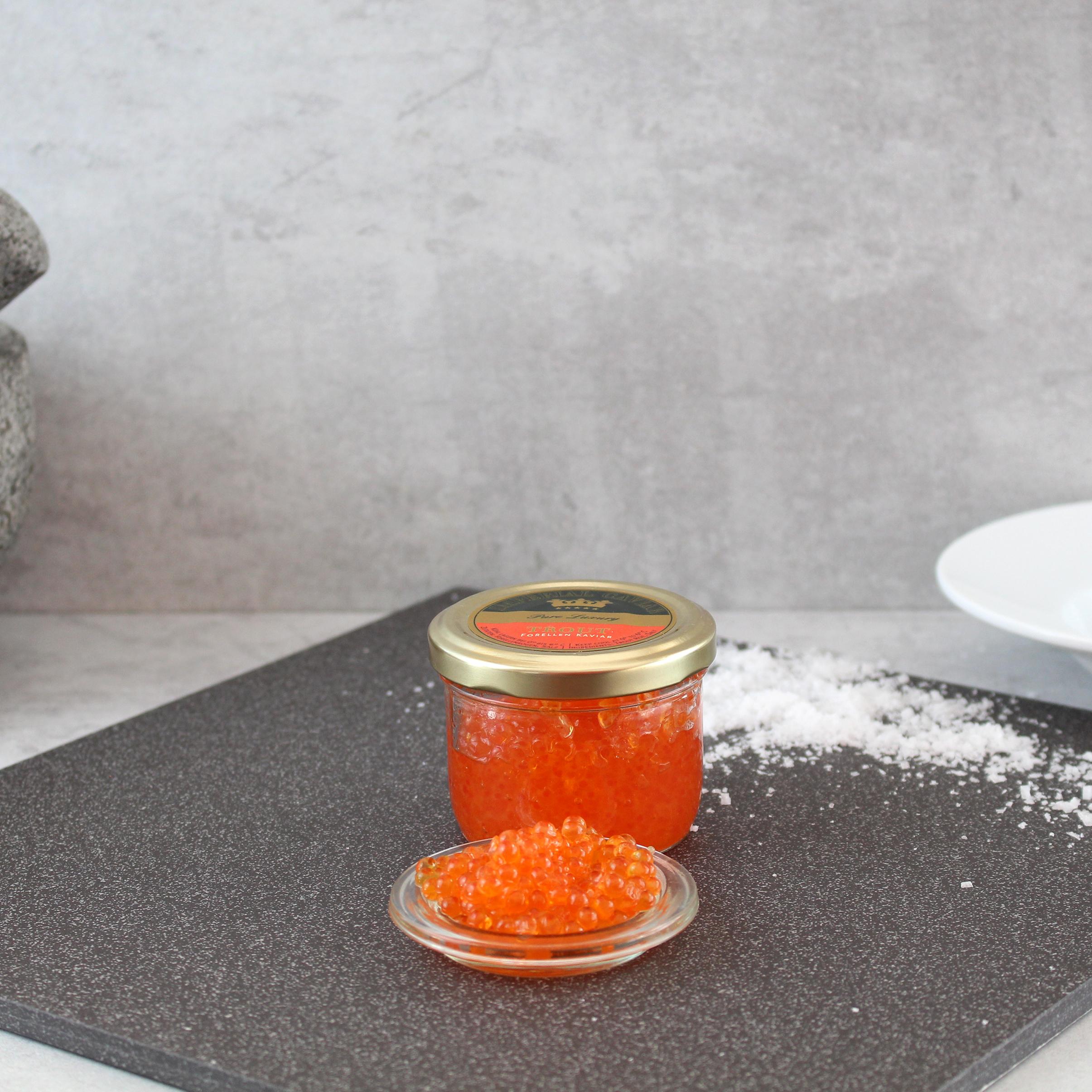 Kaviar von der Forelle